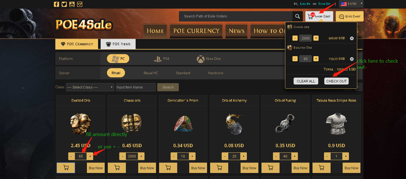 Purchase POE Currency Step 3
